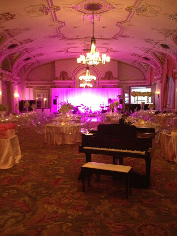 Chateau Laurier Ballroom Grand Piano Reception