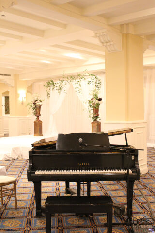 Chateau Laurier Wedding Ceremony Canadian Room Grand Piano