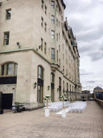 Chateau Laurier Wedding Ceremony Outdoor Terrace