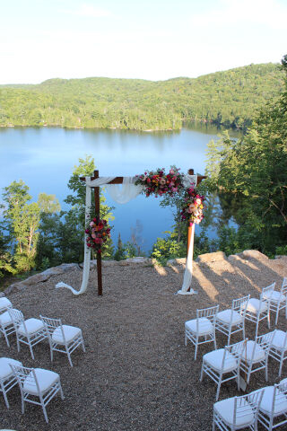 Private Wedding Ceremony Overlooking Lake