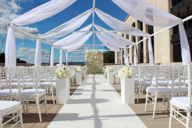 Chateau Laurier Wedding Outdoor Terrace